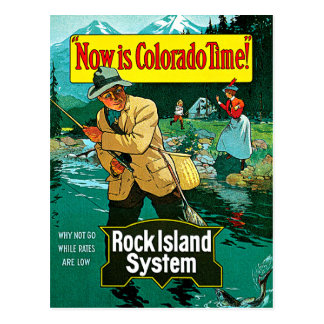 Colorado Time Rock Island System Travel Art Post Cards