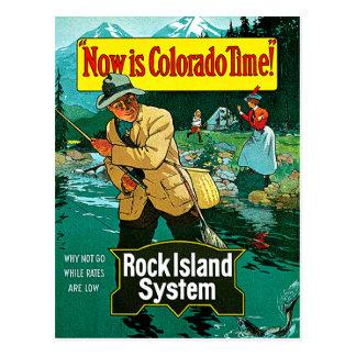 Colorado Time Rock Island System Travel Art Postcard