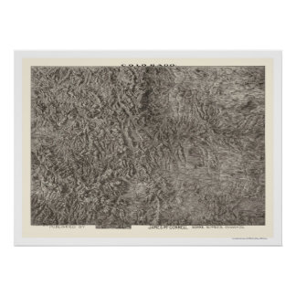 Colorado Topographical Map 1894 Poster