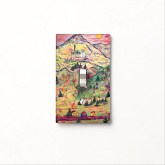 colorado town art light switch cover