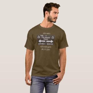Colorado Trail. Denver to Durango sign. Elevation T-Shirt