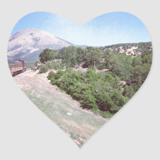 Colorado Train Scene Heart Sticker
