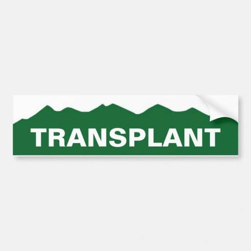 COLORADO TRANSPLANT BUMPER STICKER