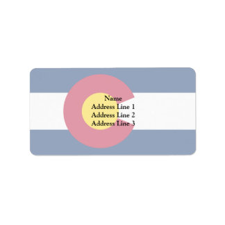Colorado, United States Custom Address Label