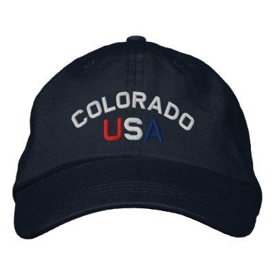 Colorado USA Embroidered Navy Blue Cap Baseball Cap