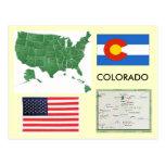 colorado, united, states, usa, america, flag, map,