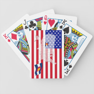Colorado-USA State flag map playing cards