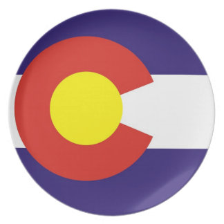 colorado usa state flag plate america