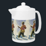 """Colorado USA Vintage Travel teapot<br><div class=""""desc"""">Using the """"Customize it"""" function,  add your own text if you wish. See my store for more items with this print.</div>"""