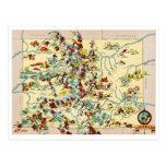Colorado Vintage Map Postcards