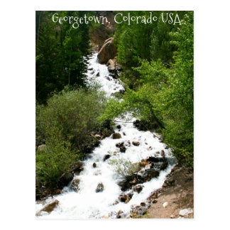 Colorado waterfall postcard