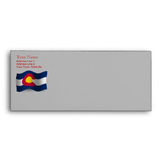 Colorado Waving Flag Envelope