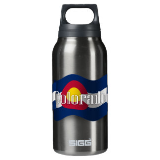 Colorado Waving Flag Insulated Water Bottle