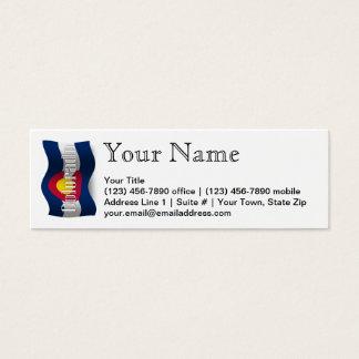 Colorado Waving Flag Mini Business Card