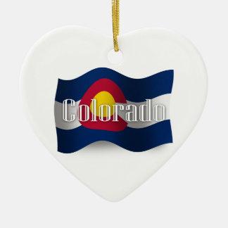 Colorado Waving Flag Ornaments