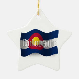 Colorado Waving Flag Christmas Tree Ornaments