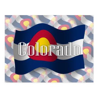 Colorado Waving Flag Postcard