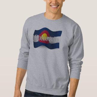 Colorado Waving Flag Pullover Sweatshirt