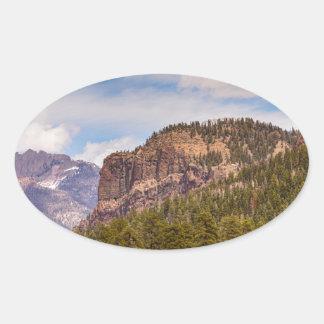 Colorado Western Landscape Oval Sticker