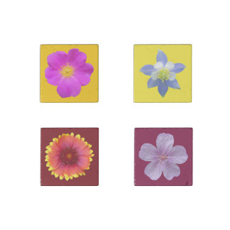 Colorado Wildflowers Stone Magnet