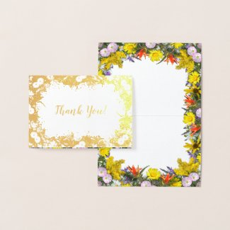 Colorado Wildflowers Thank You Foil Card