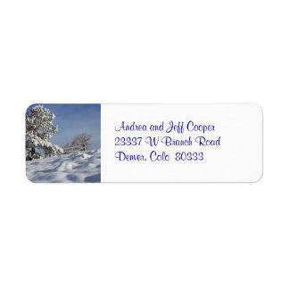 Colorado Winter Return Address Label