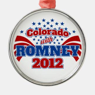 Colorado with Mitt Romney 2012 Metal Ornament