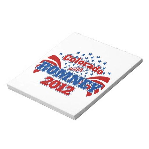 Colorado with Romney 2012 Memo Notepad
