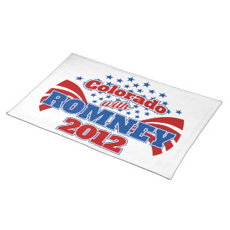 Colorado with Romney 2012 Placemat