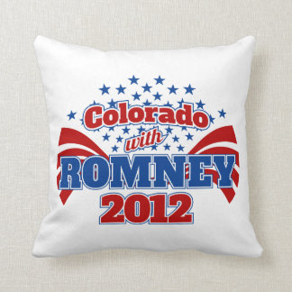 Colorado with Romney 2012 Throw Pillow