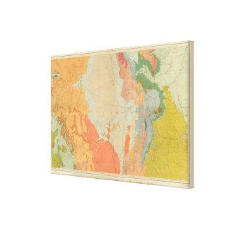 Colorado y parte centrales meridionales de New Méx Impresiones En Lienzo Estiradas