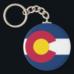 "Colorado&#39;s Flag Keychain<br><div class=""desc"">Representation of Colorado&#39;s flag design.</div>"