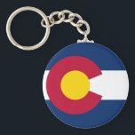 """Colorado&#39;s Flag Keychain<br><div class=""""desc"""">Representation of Colorado&#39;s flag design.</div>"""
