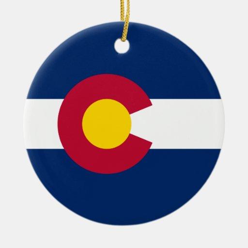 Colorado's Flag Christmas Ornaments