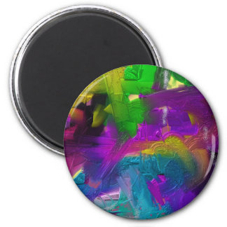 Colorage Digital Painting Design 2 Inch Round Magnet