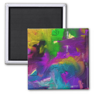 Colorage Digital Painting Design 2 Inch Square Magnet