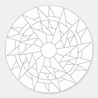Colorante-En etiqueta engomada redonda grande de