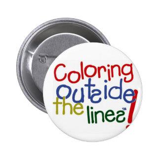 Colorante fuera de las líneas pin
