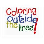 Colorante fuera de las líneas postal