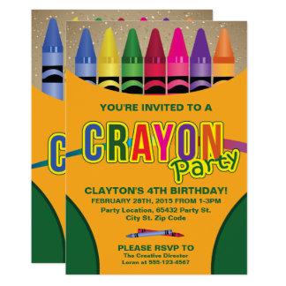 """Colorante, invitaciones de la fiesta de cumpleaños invitación 5"""" x 7"""""""