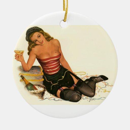 Colorante original 11 del chica modelo del vintage ornamentos de reyes magos