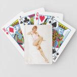 Colorante original 13 del chica modelo del vintage cartas de juego