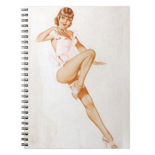 Colorante original 13 del chica modelo del vintage libro de apuntes