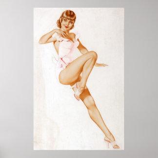 Colorante original 13 del chica modelo del vintage póster