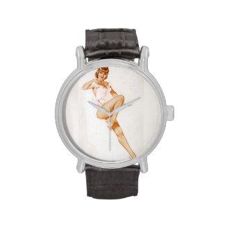 Colorante original 13 del chica modelo del vintage reloj de mano
