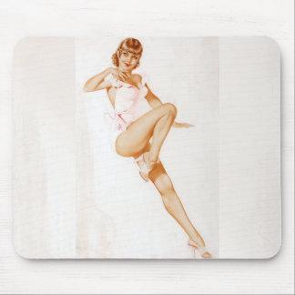 Colorante original 13 del chica modelo del vintage alfombrillas de ratón