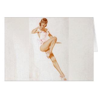 Colorante original 13 del chica modelo del vintage tarjeta de felicitación
