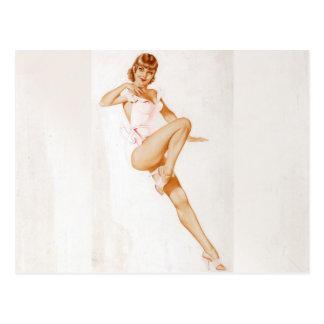 Colorante original 13 del chica modelo del vintage postal