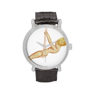 Colorante original 14 del chica modelo del vintage reloj de mano