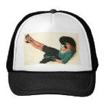 Colorante original 15 del chica modelo del vintage gorra